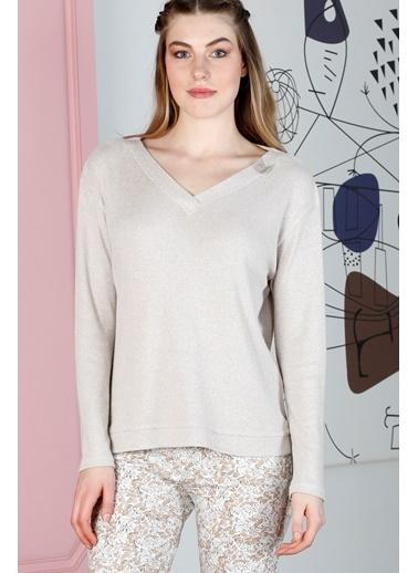 Hays Sensible Kadın Triko Üst Pijama Takımı Bej